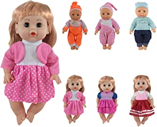 CZC GIFT 6 Set for 12-14inch Alive Lovely Baby Doll Dress Handmade Clothes Accessories