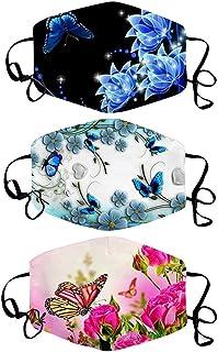 ATRISE 3PC Face Cover,Neck Gaiter,Mouth Masks,Sports Bandanas,Riding Mask mit Print Mask Reusable Washable Cloth