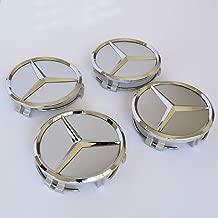 Ldntly Mercedes Benz Wheel Center Hub Caps Emblem,4PCS 75mm/3