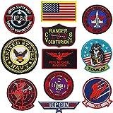 Top Gun Patch United Sates Navy Fighter Armi Scuola, Bandiera Americana,...