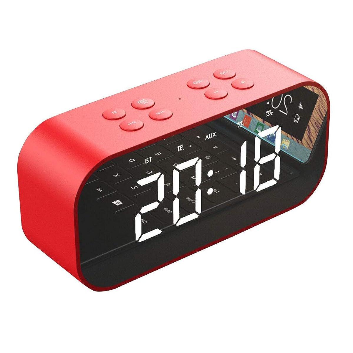 壮大ちっちゃい転用ミラースクリーンのLED表示二重目覚し時計の拡声器が付いているブルートゥース5.0のスピーカーの低音のポータブル