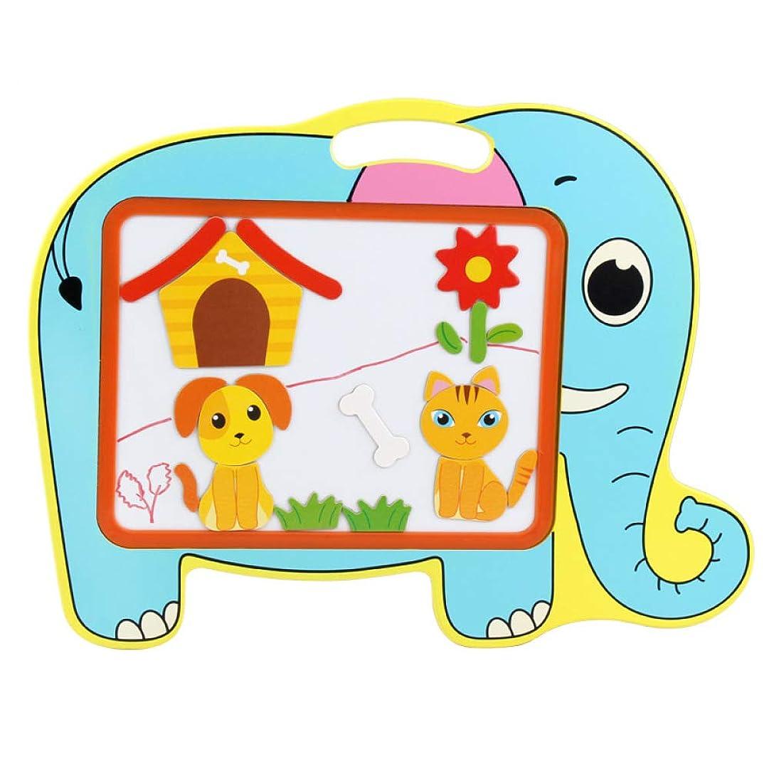 概要夜明けチャーム子供の磁気製図板多機能ミニ赤ちゃん知育玩具筆記板製図板,Elephant
