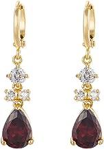 YAZILIND Women Luxury 18K Gold Plated Tear Drop Austrian Crystal Hoop Dangle Drop Earrings Gift Ideas