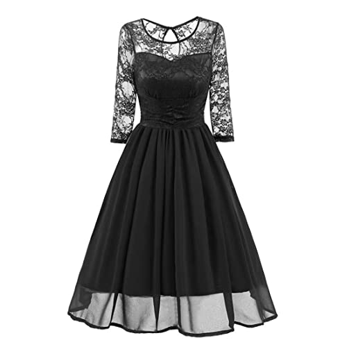 c5e86d204b Vintage Lace Evening Party Dresses for Women,Moonuy Ladies Girl Trench  NewestFormal Patchwork Wedding Swing