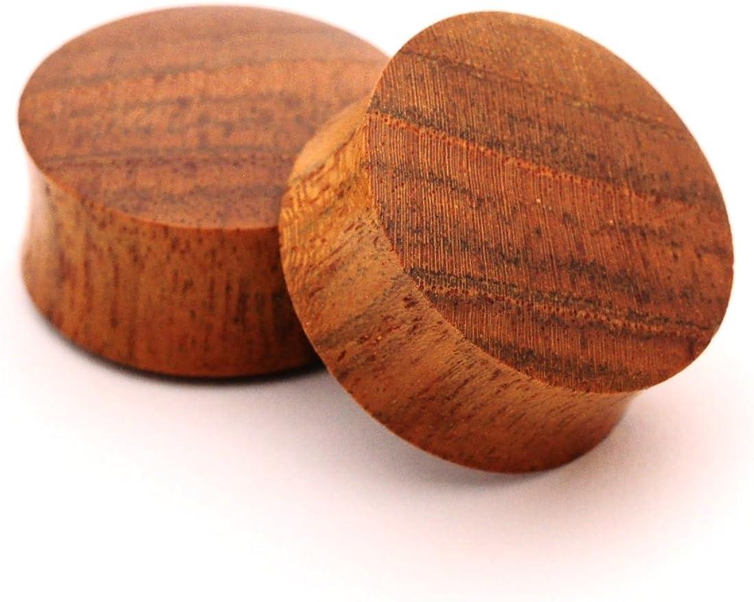 Mystic Metals Body Jewelry Pair of Teak Wood Plugs - 3/4