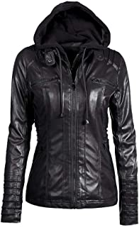 DENGZI Long Sleeve Gothic Punk Cardigan Hooded Jacket Black Print