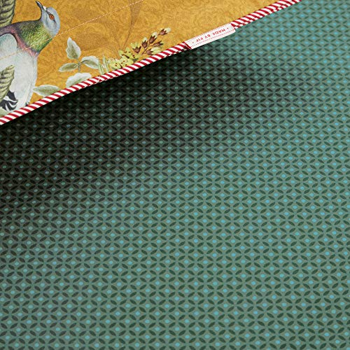 PiP Spannbettlaken Cross Stitch Perkal grün Größe 90x200 cm