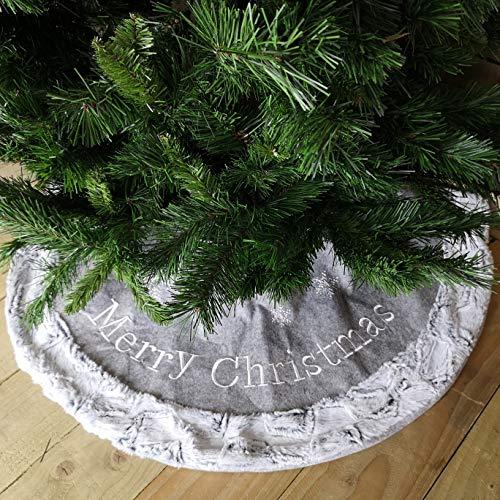 Contemporary Christmas Baum Rock mit grau Fell 100cmdia