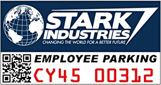 Stark Industries Employee Parking Window Cling Parking Decal