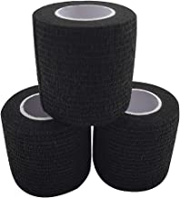 zechy Grip Tape - Hockey, Baseball, Lacrosse, Any Other Sports requiring a Solid Grip - 2 inch by 15 feet (Black)(3 Pack)