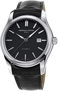 Frederique Constant Men's Classics 40mm Black Leather Band Steel Case Automatic Analog Watch FC-303NB6B6