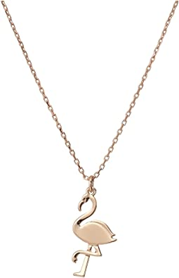 By The Pool Flamingo Mini Pendant Necklace