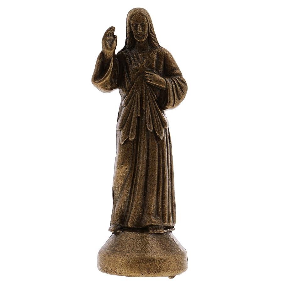 ジェーンオースティン暗殺誓いミニイエス ホーリー 宗教的な 置物 磁気 装飾像 固定 置物 装飾 2サイズ - ブロンズ, 5cm