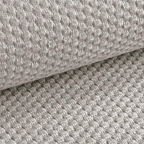 NOVELY® MAKAO moderner und kuscheliger Möbelstoff mit 3D-Wabenmuster ULTRAWEICH (02 | Perl Beige Hellgrau)