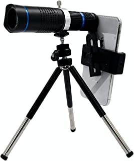 26X単眼望遠鏡外付け望遠レンズ望遠鏡HD単眼望遠鏡と電話アダプタマウントと三脚キャンプバードウォッチング旅行のアウトドアクライミングハンティング