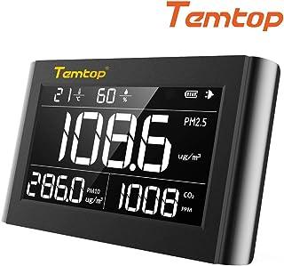 Temtop P1000屋内空気質モニター、探知機、住宅所有者用テスターレンタル&HVAC長所 - 室内空気汚染からPM2.5 PM10 CO2温度湿度を測定 - 最高の保護