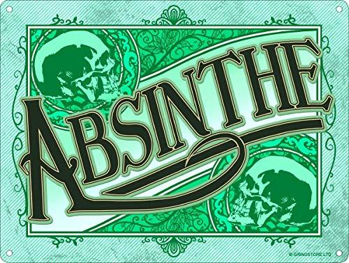 Absinthe Blechschild Retro Blech Metall Schilder Poster Deko Vintage Kunst Türschilder Schild Warnung Hof Garten Cafe Toilette Club Geschenk
