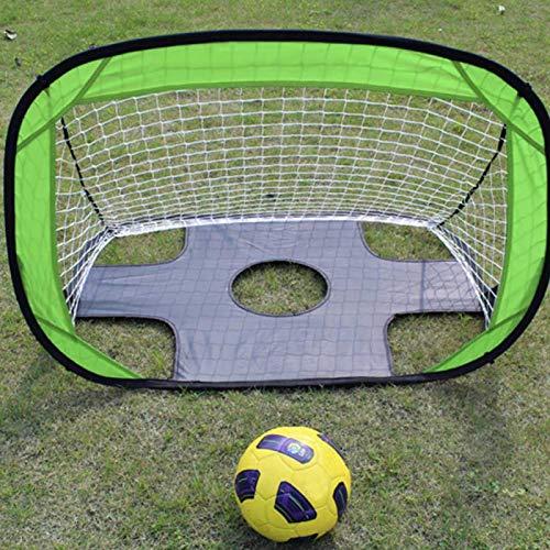 SALUTUYA Portería de fútbol con Varillas de Fibra de Vidrio para Interiores y Exteriores para niños