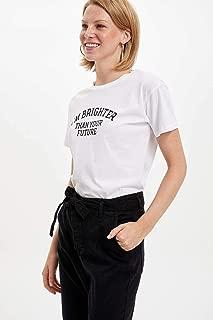 DeFacto Baskılı Kısa Kollu T-shirt Kadın T-Shirt