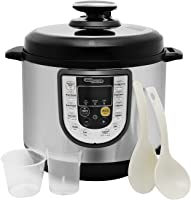 Super General 6 Liter Stainless Steel Pressure Cooker, Electric Cooker with Digital Display, Multi-Functional,...