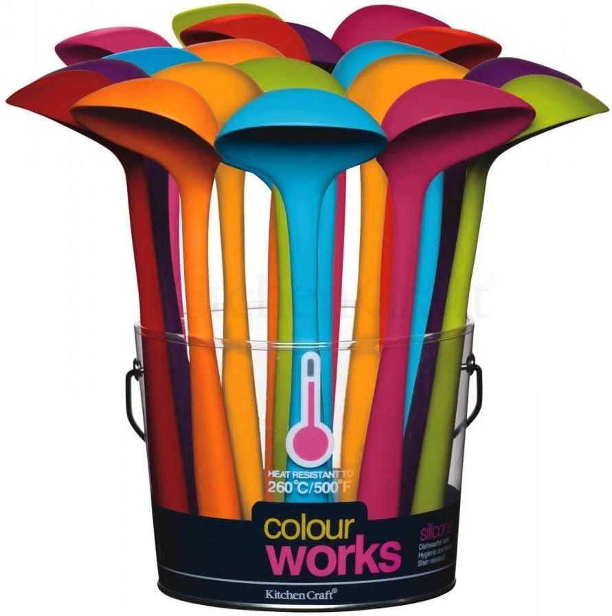 Gr/ün 20,5 cm Colourworks Silikon-Mini-Sch/öpfkelle