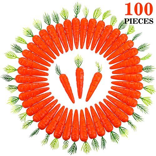 100 Stück Mini Ostern Schaumstoff Karotten für Haseneiersuche Motorhaube Handwerk Dekoration (100 Stück)