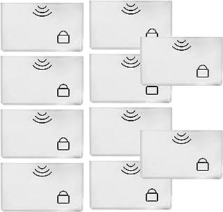 10 Pcs RFID Sleeves Credit Card Sleeve,Credit Card Protector Sleeves Blocks Credit Cards Transfer of Pickpocketing (10.5 x...