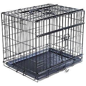 VADIGRAN Cage de Transport Pliable pour Chiens Commodité et Portabilité, Tailles Variées