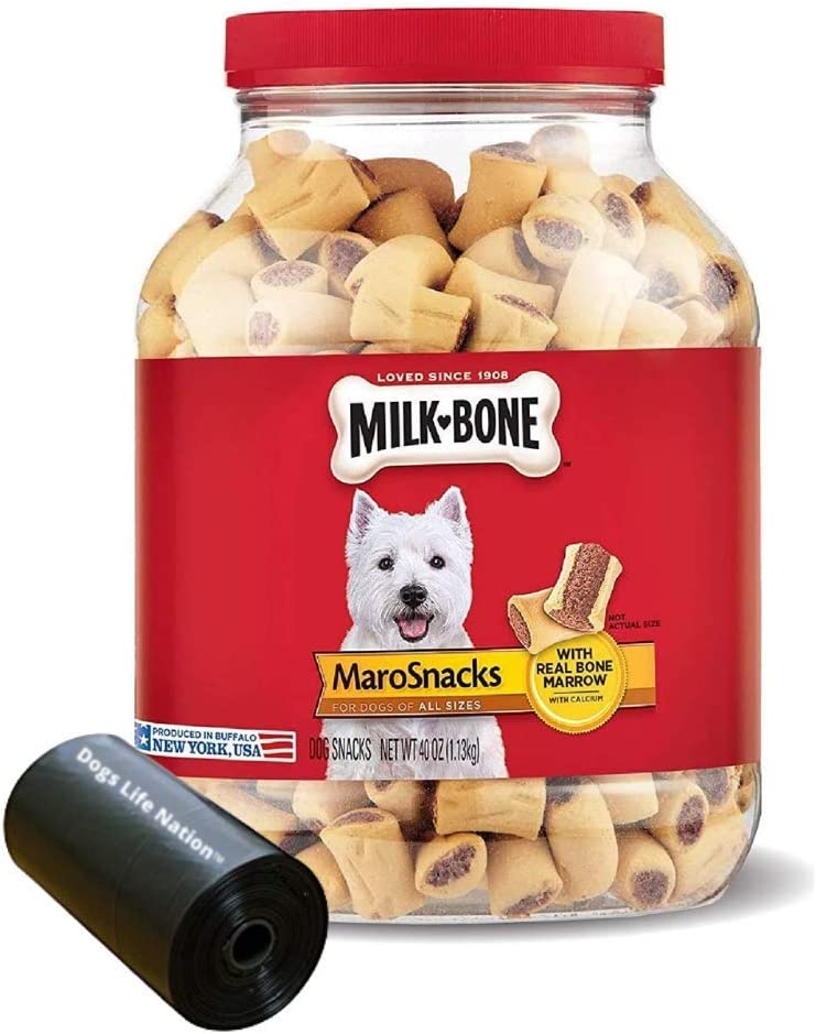 Milk-Bone MaroSnacks Dog Treats with Recommended Real Bone Marrow L San Francisco Mall and Dogs
