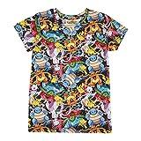 Pokemon T-Shirt garçons sublimé imprimé imprimé Multicolore 8 Ans