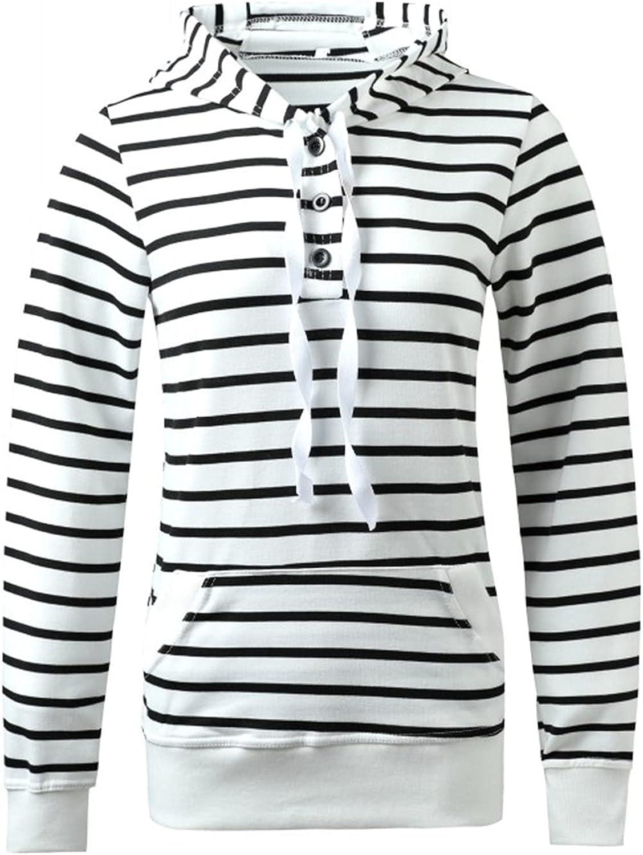 Ranking TOP5 Jchen_Women Coat Women's Striped Sales results No. 1 Long Up Sweat Sleeve Hooded Zip