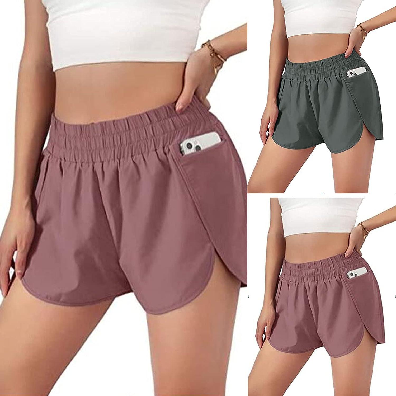 CieKen Womens Quick-Dry Running Shorts Sport Layer Elastic Waist Active Workout Shorts Summer Beach Shorts