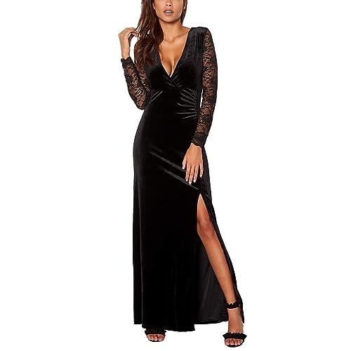6a26aae88fb3 Black Velvet Maxi Dress  Amazon.com