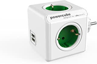 allocacoc Power Cube 1202GN/DEOUPC Chargeur extendeur pour Smartphone/Tablette USB 2.1 Vert/Blanc