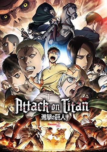 Poster Attack On Titan Saison 2 Taille 30 x 46 cm (300 x 460 mm) Finition givrée Papier Cadeau Décoration