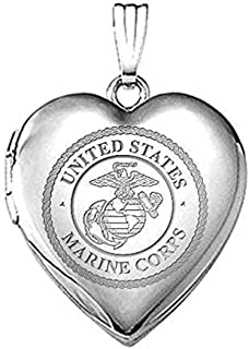 marine corps heart necklace