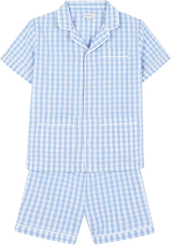 Gocco Pijama Corto Cuadro Vichy Conjuntos, Azul (Azul Claro ...