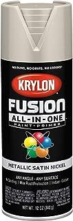 Krylon K02772007 Fusion All-in-One Spray Paint, Satin Nickel