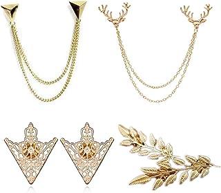 PPX 4 pezzi pullover Clip Colletto Maglione Cardigan sciarpa metallo clip blusen Clips Pullovers Metallclips argento giacc...