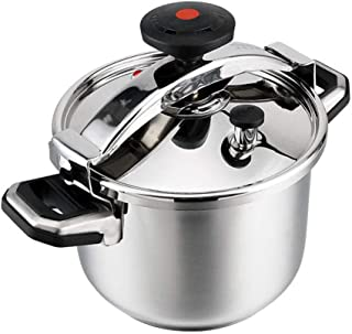 Pressure cooker commercial stainless steel pressure cooker outdoor explosion-proof large-capacity pressure cooker non-stick cooker induction cooker gas stove general family kitchen hotel restaurant 6L