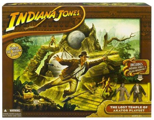 Indiana Jones - El reino de la calavera de cristal - El Templo Perdido de Juego Akator Set - incluyendo Indiana Jones y Ugha Warrior - Caja UE