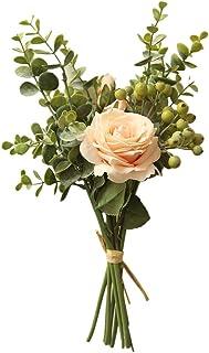 Farantasy造花ファッション美しい現実的な範囲ローズアジサイの花花束束ホームウェディングパーティーギフトデコホーム結婚式の装飾人工花。
