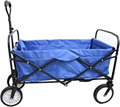 Goutime Collapsible Folding Outdoor Utility Wagon Beach Garden Shopping cart with Washable Removable Cover