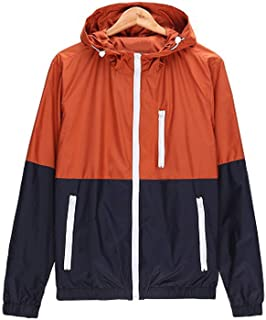 fbe2fa4bbde yu outerwear Men Casual Spring AutumnJacket Hooded Contrast Color upJackets