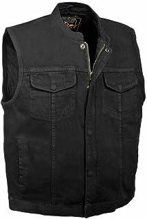 Shaf Los hombres de la motocicleta hijo de la anarquía negro pistola de vaquero chaleco bolsillos interior w cremallera regular