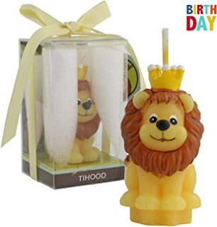TIHOOD Creative Lion Cartoon Birthday Candle, Smokeless Cake Candle and Party Supplies, Hand-Made Cake Topper Decoration, Great Gift (Lion)