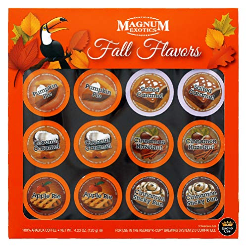 Magnum Coffee Taste of the Exotic - 12 Fall Flavors Gift Set Single Serve Coffee Cups