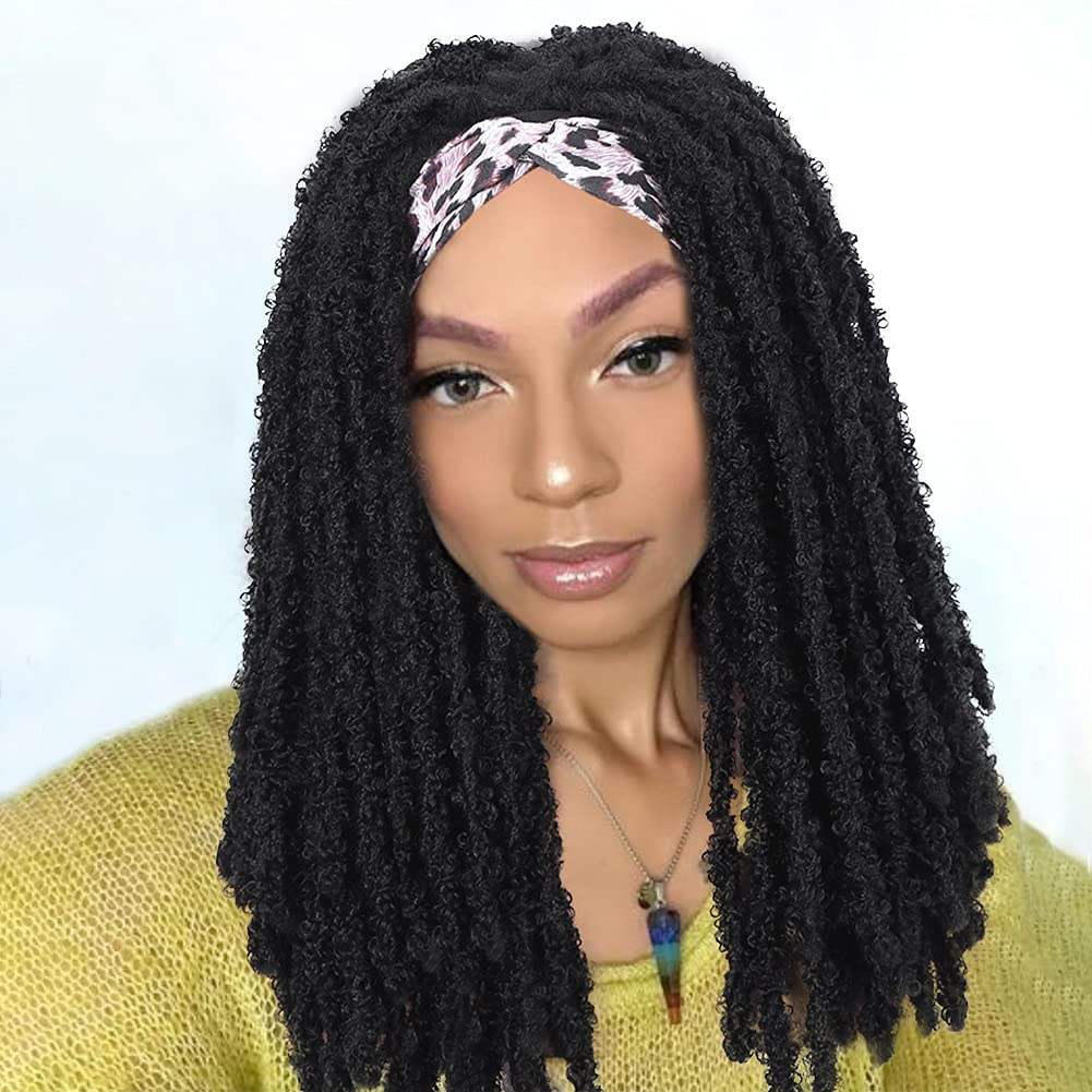 HANNE Natural Ranking TOP8 Soft Crochet Twist Headband Black Wigs Same day shipping Wo Locs for