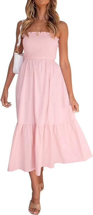 long pink breathtaking summer dress