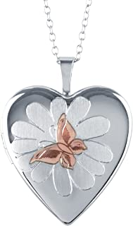 Sterling Silver Heart Shape Lockets - Available in Various Sizes and Adorable Designs